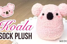 The Fastest Plushie DIY Ever - Make an adorable toy in just 30 minutes… Sock Crafts, Cute Crafts, Crafts For Kids, Crafts With Socks, Diy Plush Toys, Diy Toys, Diy Pencil Case, Kawaii Diy, Kawaii Crafts