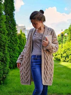 Excited to share the latest addition to my shop: Hand knitted cardigan Knitted cardigan Oversized cardigan Wool cardigan Knitted cardigan Knit cardigan Beige cardigan Stylish coat Styled Knitted Jackets Women, Cardigan Sweaters For Women, Cardigans For Women, Jackets For Women, Beige Cardigan, Oversized Cardigan, Wool Cardigan, Stylish Coat, Knitted Coat