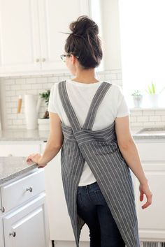 Cross-Back Apron + Sewing Happiness Book Review - delia creates