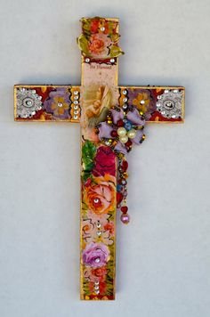 Mexican Art Wooden Milagro Crucifix Religious by OliviabyDesign, $18.95