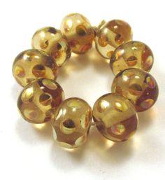 EDJ-METALLIC-SPOTS-Handmade-Glass-Lampwork-Beads-USA-SRA-Artist-Eric-Larson