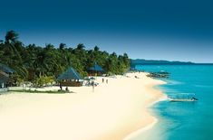 Bantayan Island, Cebu. Philippines. clear blue skies, sparkling blue waters and fine white sand