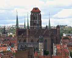 Bazylika Mariacka widziana z góry   #gdansk #sightseeing