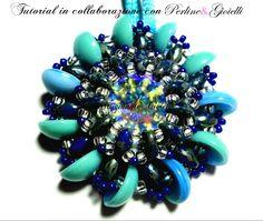 DIY Tutorial Ciondolo perline piggy beads - 1^ collaborazione con Perlin...