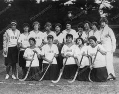 Girls Field Hockey Team 1915 Vintage 8x10 Reprint Of Old Photo
