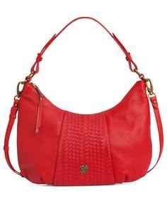 Elliott Lucca Handbag, Intreccio Leather Demi Hobo