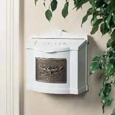 Gaines Mailboxes: White Wall Mailbox with Antique Bronze Eagle Emblem by Gaines. $186.00. Gaines Mailboxes: White Wall Mailbox with Antique Bronze Eagle Emblem