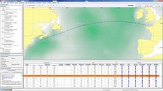 Vessel track with wave height contours