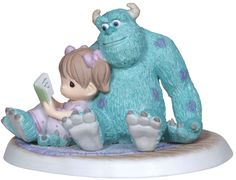 Precious Moments' Disney Snuggle-Time Figurine shows the lovable Sulley from Monsters Inc. snuggling up with a kid to read a bedtime story. This charming piece, part of the Disney collection, is a delight for fans. Disney Precious Moments, Precious Moments Quotes, Precious Moments Figurines, Disney Monsters, Monsters Inc, Disney Pixar, Walt Disney, Disney Figurines, Collectible Figurines