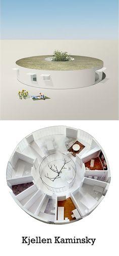 Architecture ronde - Kjellen Kaminsky - maison individuelle