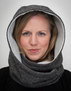 LOVE! Must-Sew Hooded Infinity Scarf Sewing Pattern - Infinity Scarf Pattern by Gina Renee Designs $7.95