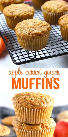 Simple Muffin Recipe, Healthy Muffin Recipes, Easy Baking Recipes, Healthy Muffins, Apple Recipes, Sweet Recipes, Cookie Recipes, Dessert Recipes, Gluten Free Carrot Muffins