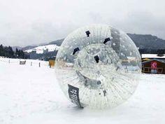Zorbing auch im Winter mit den Zorbs von ZORB® Europe, Nürnberg