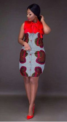 Online Hub For Fashion Beauty And Health: Simply Stylish And Lovely Ankara Short Gown Style . Latest African Fashion Dresses, African Dresses For Women, African Print Dresses, African Print Fashion, Africa Fashion, African Women, African Prints, African Attire For Ladies, African Print Skirt