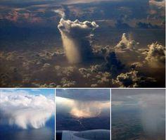 How rain looks from plane?