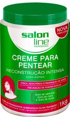 CREME PARA PENTEAR REDUTOR DE VOLUME RECONSTRUÇÃO INTENSA SALON LINE 1KG