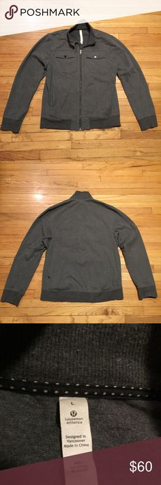 Lululemon men's gray zip up sweatshirt - Large Lululemon men's gray zip up sweatshirt - Large. Armpit to armpit - 23 inches. Length - 28 inches. Excellent condition lululemon athletica Sweaters Zip Up
