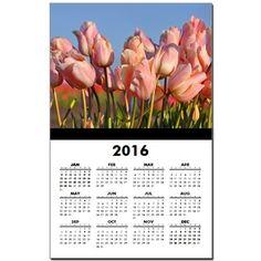 Pretty pink tulips Calendar Print on CafePress.com