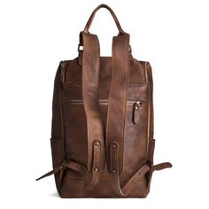 ROCKCOW High Quality England Vintage Style Genuine Leather Men Backpacks For College School Backpacks For 14 Inch Laptop Bags 9026 - ROCKCOWLEATHERSTUDIO