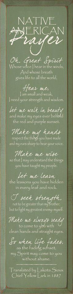 Native American Indian Prayer More