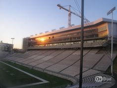 Sunrise reflects off The Cougar Football Project, July 7.