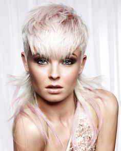 45 new short hairstyles for 2019 bobs and pixie haircuts 00062 Centralcheff. Short Platinum Blonde Hair, Platinum Hair Color, Ombre Hair Color, Mullet Hairstyle, My Hairstyle, New Short Hairstyles, Straight Hairstyles, Stylish Hairstyles, Pixie Haircuts
