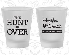 The Hunt is Over Wedding, Promotional Frosted Glasses, Frosted Shot Glass (27)