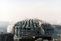 The implosion of the King Dome. Seattle 1999