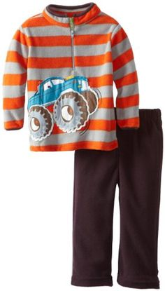 Two Piece Monster Truck Pullover and Pant Set