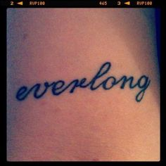 "foo fighters ""everlong"" tattoo"