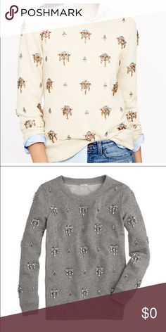 ‼️ISO J. Crew Jeweled Embellished Sweatshirt ‼️ Sounds crazy but I'm looking for both colors! Size M !! PLEASE tag me in any you see! I've been looking for these sweaters for a LONG TIME! ❤️❤️❤️ Thank you!! J. Crew Sweaters Crew & Scoop Necks