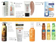 Some of my favorite warm-weather beauty products for skin and hair