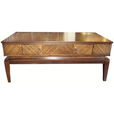 Mid-century Coffee Table with Drawer - $1,299 Est. Retail - $699 on Chairish.com