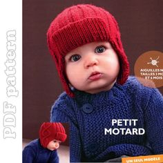 Cute knitted hat for baby