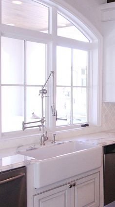 Kitchen remodel by JVW Home in Austin Texas - Waterstone Gantry Faucet #kitchendesignideas