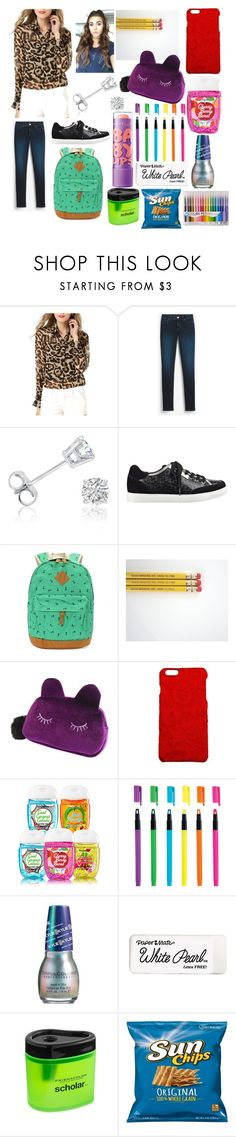 """""""My First Day Of School!"""" by sisibff ❤ liked on Polyvore featuring White House Black Market, Amanda Rose Collection, GUESS, Dolce&Gabbana and Urban Outfitters"""