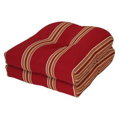 Terrasol 19 x 19 in. Outdoor Chair Cushions - Set of 2