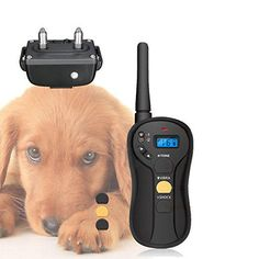 Remote Dog Training Collar Electric Dog training Shock Collar Pet Trainer at Banggood Training Collar, Dog Training, Pet Trainer, Shock Collar, Electric Shock, Large Dogs, Home Textile, Pet Supplies, Trainers