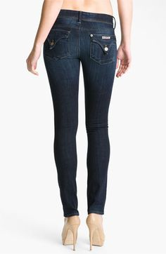 Want! Hudson Jeans Skinny Stretch Jeans (Belfast Wash) available at #Nordstrom