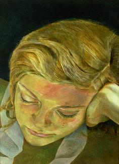 Lucian Freud, Girl Reading (Caroline) on ArtStack #lucian-freud #art