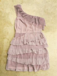 Lavender ruffle party dress