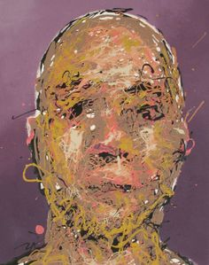 Craig Paul Nowak abstract drip portrait blend in stand out purple Drip Painting, Abstract Portrait, Jackson Pollock, Pictures To Paint, Paintings, Purple, Artist, Paint, Painting Art