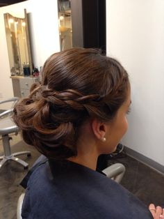 Up do with braid! So classy! :)