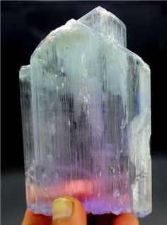 WOW 179 Gram Top Quality Natural Bi Color KUNZITE Crystal with Green TOURMALINE