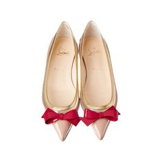 VOGUE ❤ liked on Polyvore featuring shoes, christian louboutin, flats, heels, scarpe, heeled flats, flat heel shoes, flat pumps and flat shoes