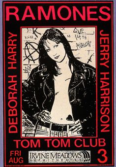 Ramones, I went to this concert shot a backstage pass. Cool folks!