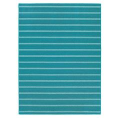 Picture of Teal Avery Stripe Rug 5 X 7 ft