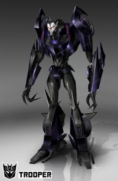 purple foot soldier images | basic decepticon trooper.