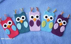 Crochet Phone Holder crochet owl phonecase but i think i'm going to adapt it for my kindle Crochet Phone Cover, Crochet Case, Crochet Owls, Diy Crochet, Crochet Stitches, Crochet Patterns, Cheap Yarn, Crochet Mobile, How To Purl Knit