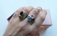 Danish blogger Emili with a lot of Carré rings